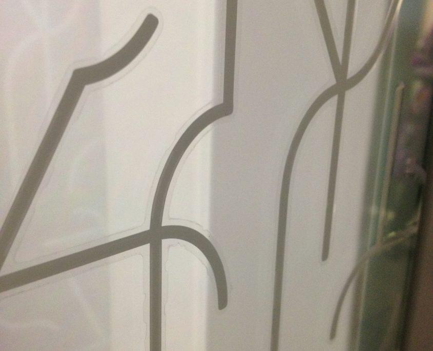 vitrophanie cloisons vitrées motif